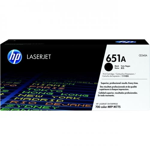 HP 651A (CE340A) Black Original LaserJet Toner Cartridge