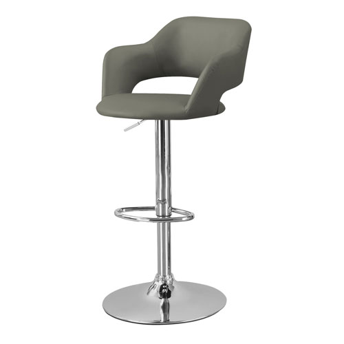 Contemporary Faux Leather Bar Stool - Light Grey  sc 1 st  Best Buy Canada & Contemporary Faux Leather Bar Stool - Light Grey : Bar Stools ... islam-shia.org