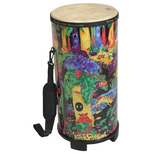 """Remo Kids Percussion Tubano Drum - Fabric Rain Forest, 10"""""""