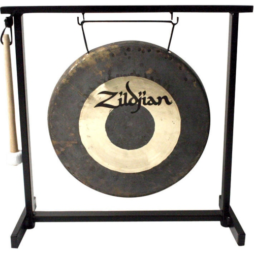 "Zildjian P0565 12"" Traditional Gong and Table-Top Stand Set"