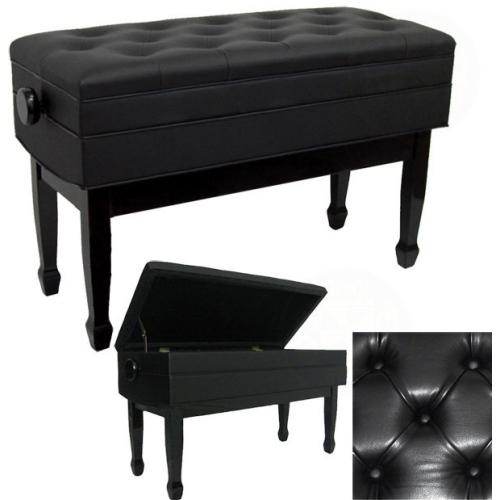 Super Benchworld Maestro Pro 1Gpe Duet Adjustable Concert Piano Bench 34 Padded Polished Ebony Short Links Chair Design For Home Short Linksinfo