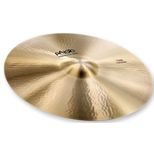 "Paiste Formula 602 Classic Sounds Thin Crash Cymbal - 18"""