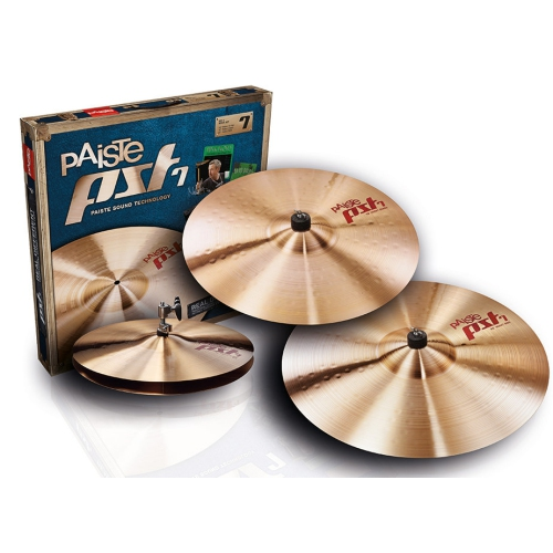 "Paiste PST 7 Heavy Rock Cymbal Set - 14""/16""/20"""