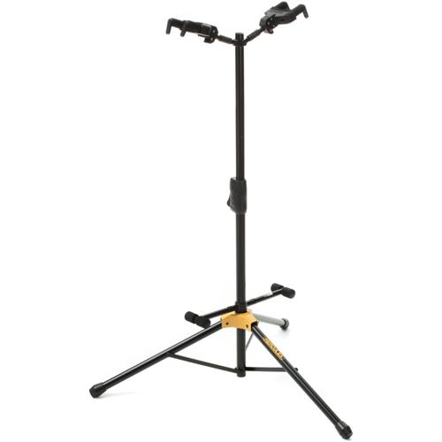 Hercules Auto Grip System Double Guitar Stand with Fold-able Backrest