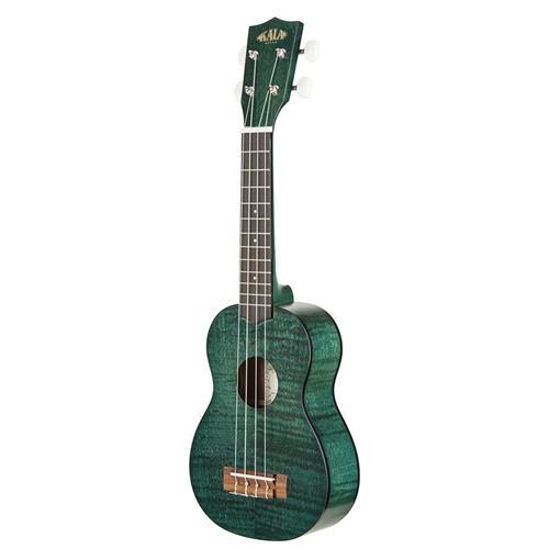 Kala Exotic Mahogany Soprano Ukulele - Green