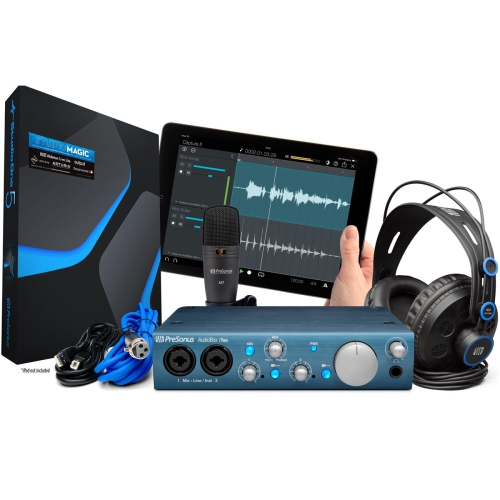 PreSonus AudioBox iTwo Studio - Complete Mobile Hardware/Software Recording Kit