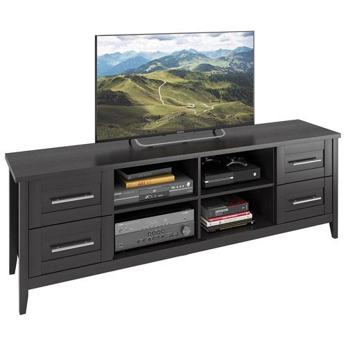 "CorLiving Jackson 80"" TV Stand - Black Wood Grain"