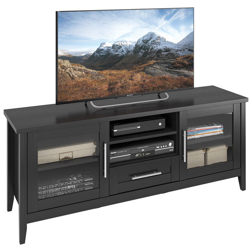 "CorLiving Jackson 65"" TV Stand - Black Wood Grain"