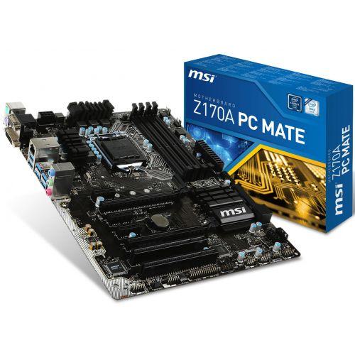 MSI Z170A PC MATE SK1151,4*DDR4,2*PCIEx16,3PCIEx1,M.2,6*USB3.1