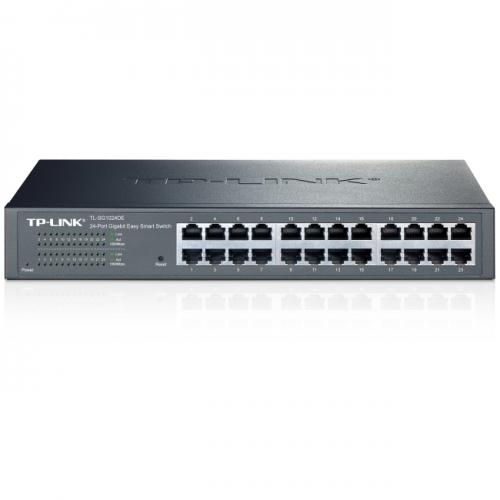 TP-LINK TL-SG1024DE 24-Port Gigabit Easy Smart Switch with 24 10/100/1000 Mbps RJ45 Ports, MTU/Port/Tag-Based VLAN, QoS and IGMP