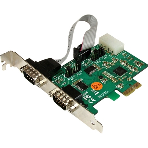 StarTech 2 Port Industrial PCI Express (PCIe) RS232 Serial Card w/ Power Output and ESD Protection