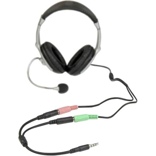 StarTech Headset adapter for headsets with separate headphone / microphone plugs - 3.5mm 4 position to 2x 3 position 3.5mm M/F