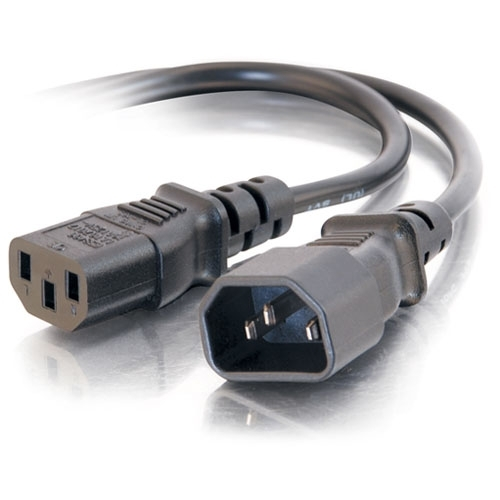 C2G 2ft 18 AWG Computer Power Extension Cord (IEC320C14 to IEC320C13)
