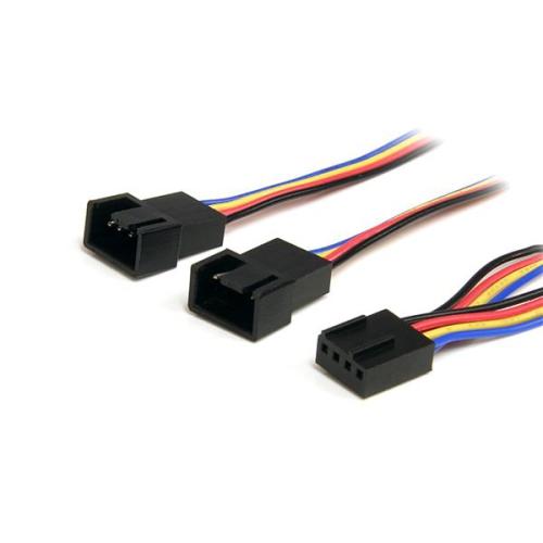 StarTech 12in 4 Pin Fan Power Splitter Cable - F/M