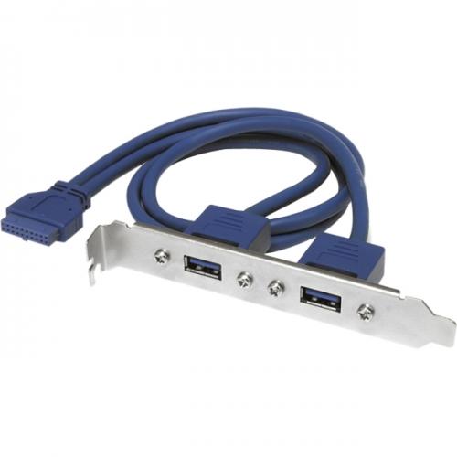 StarTech 2 Port USB 3.0 A Female Slot Plate Adapter