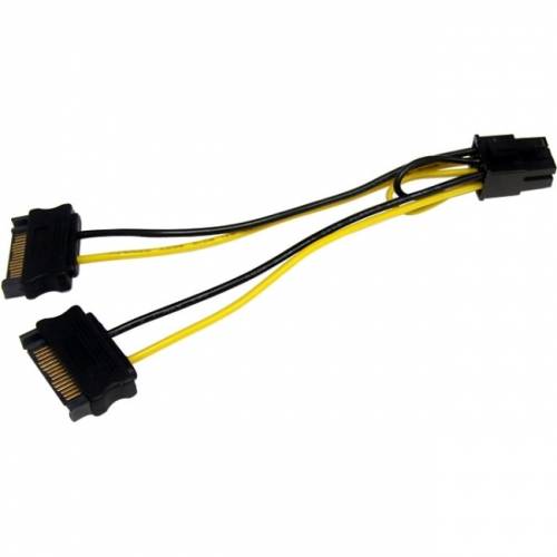 StarTech 6in SATA Power to 6 Pin PCI Express Video Card Power Cable Adapter
