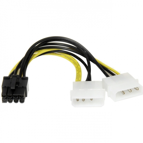 StarTech 6in LP4 to 8 Pin PCI Express Video Card Power Cable Adapter