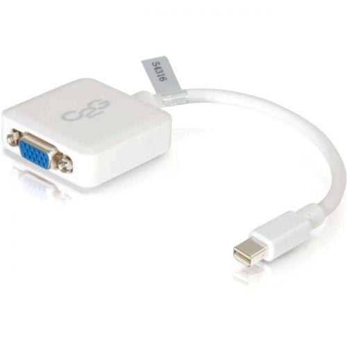 C2G 8in Mini DisplayPort Male to VGA Female Adapter Converter - White