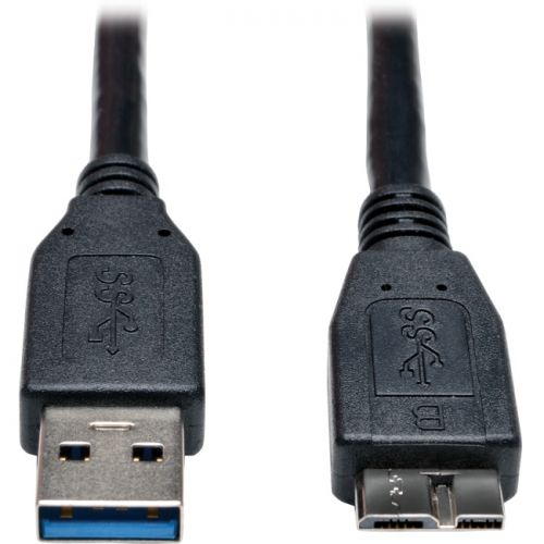 Tripp Lite USB 3.0 SuperSpeed Device Cable (A to Micro-B M/M) Black, 6-ft