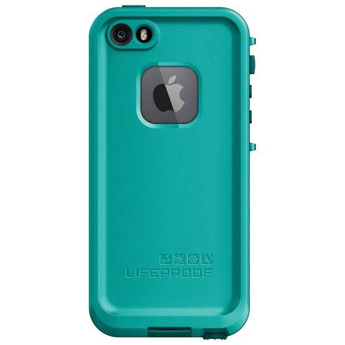 Étui rigide ajusté FRE de LifeProof pour iPhone 5/5s/5e - Sarcelle