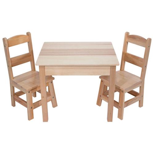 Ensemble Avec Table Et Chaises En Bois Pour Enfants De Melissa Doug Jouets Educatifs Articles Developpement Nourrissons