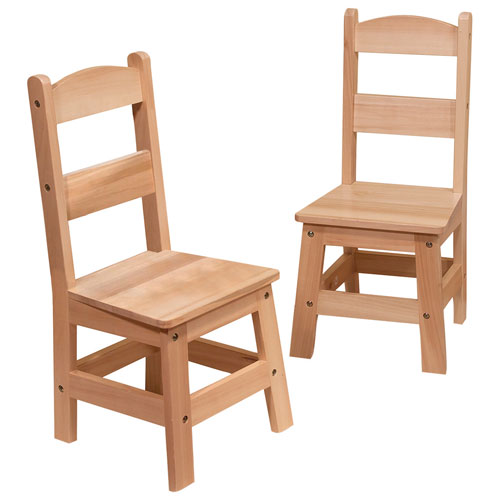 Brilliant Melissa And Doug Kids Wooden Chair Set Of 2 Theyellowbook Wood Chair Design Ideas Theyellowbookinfo