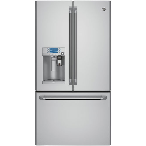 """GE Cafe 36"""" 27.8 Cu. Ft. French Door Refrigerator with Built-In Keurig K-Cup Brewing System"""