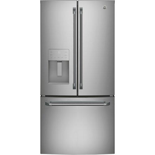 """GE Cafe 33"""" 23.8 Cu. Ft. French Door Refrigerator with Through-the-Door Water & Ice Dispenser"""