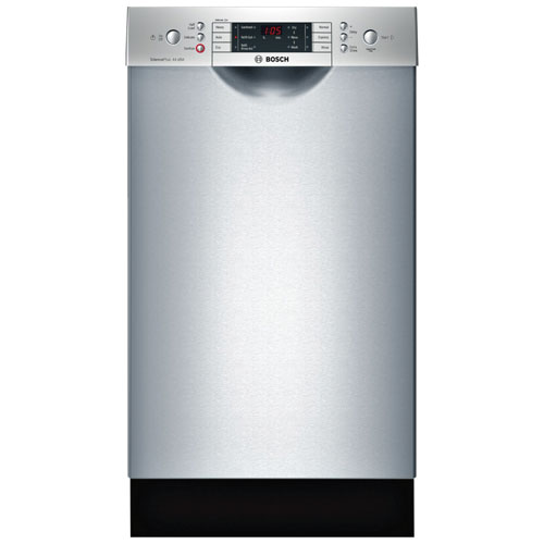 "Bosch 800 Series 18"" 44 dB Built-In Dishwasher with Stainless Steel Tub (SPE68U55UC) - Stainless Steel"
