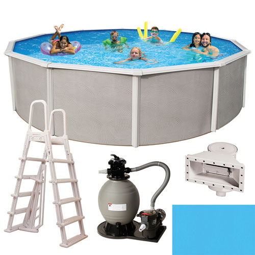 Blue Wave Belize Above Ground 27ft Round Pool - 52in