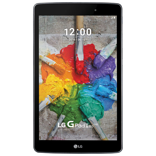 "Rogers/Fido LG G Pad III 8.0"" 16GB Android 6.0 (Marshmallow) LTE Tablet - Indigo Black"