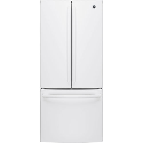 """GE 30"""" 20.8 Cu. Ft. French Door Refrigerator with LED Lighting (GNE21DGKWW) - White"""