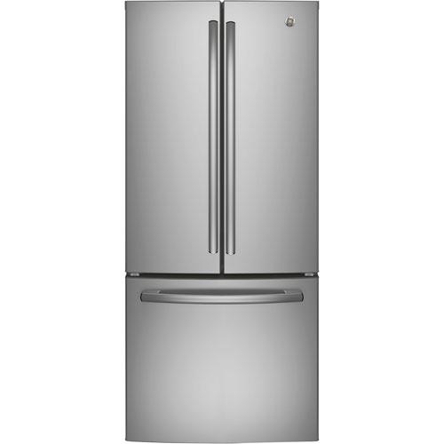 Réfrigérateur à 2 portes 20,8 pi3 30 po avec éclairage à DEL de GE (GNE21DSKSS) - Acier inoxydable