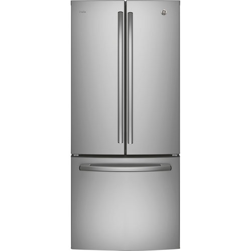 "GE Profile 30"" 20.8 Cu. Ft. French Door Refrigerator with LED Lighting (PNE21KSKSS) - Stainless Steel"