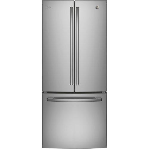 Réfrigérateur à 2 portes avec éclairage à DEL de 20,8 pi3 30 po Profile de GE (PNE21KSKSS) - Inox