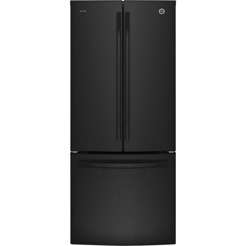 Réfrigérateur à 2 portes avec éclairage à DEL de 30 po de 20,8 pi3 Profile de GE (PNE21KGKBB) - Noir