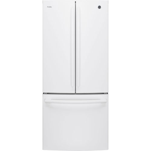 """GE Profile 30"""" 20.8 Cu. Ft. French Door Refrigerator with LED Lighting (PNE21KGKWW) - White"""