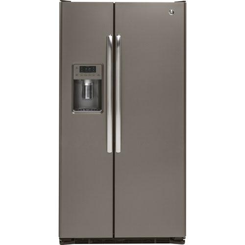 Réfrigérateur côte à côte de 36 po et 21,9 pi3 de GE (GZS22DMJES) - Ardoise