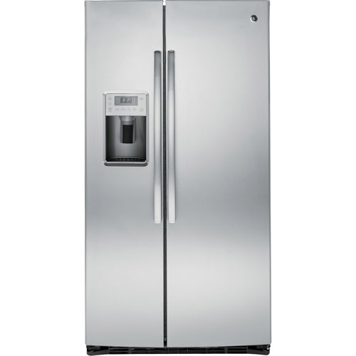 "GE Profile 36"" 25.4 Cu. Ft. Side-By-Side Refrigerator (PSE25KSHSS) - Stainless Steel"