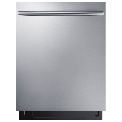 """Samsung 24"""" 44dB Tall Tub Built-In Dishwasher with Stainless Steel Tub (DW80K7050US) - Stainless Steel"""