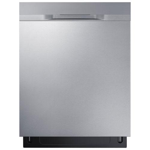 Lave-vaisselle encastrable grande capacité 24 po 48 dB à cuve acier inox Samsung (DW80K5050US)- Inox
