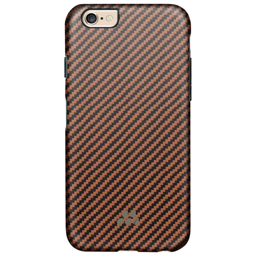 Evutec Karbon SI iPhone 6 Plus/6s Plus Fitted Hard Shell Case - Black/Tan