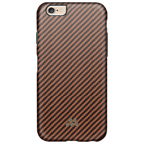 Evutec Karbon SI iPhone 6/6s Fitted Hard Shell Case - Black Tan