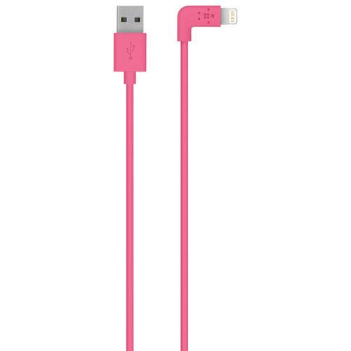Belkin MIXIT UP 1.2m (4 ft.) 90-Degree Lightning Cable (F8J147BT04) - Pink