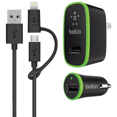 Belkin Micro USB Wall/Car Charger Kit with Lightning Adapter (F8J171TT03)