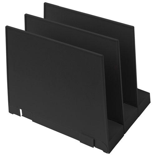 good natured Vertical File Holder - Set of 3 - Black