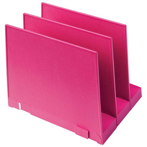 good natured Vertical File Holder - Set of 3 - Pink