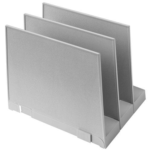 good natured Vertical File Holder - Set of 3 - Grey