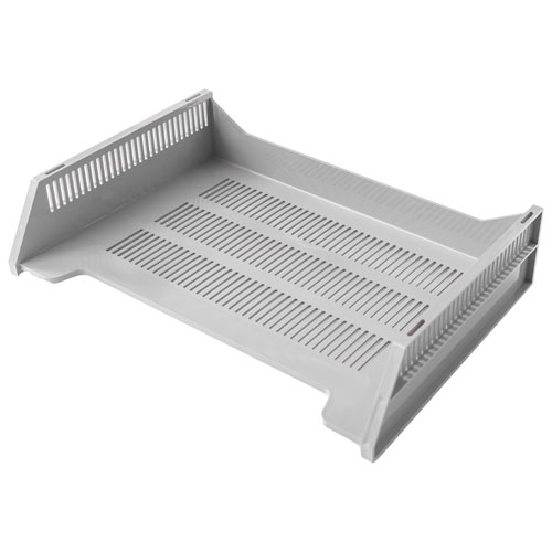good natured Letter-Size Stackable Desk Tray - Grey