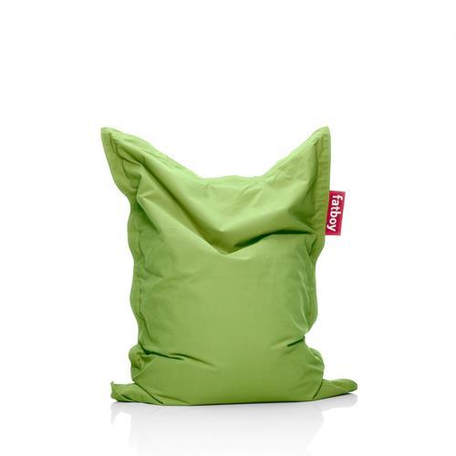 Fatboy Cotton Fabric Bean Bag Chair - Lime Green
